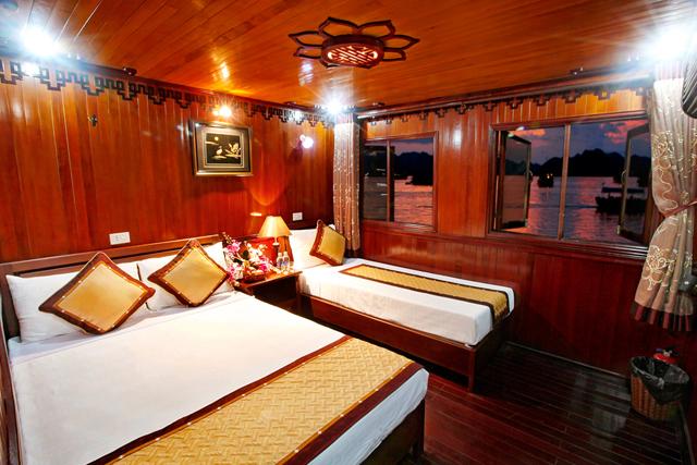 Cabin phòng ngủ trên du thuyền ngủ đêm 3 sao