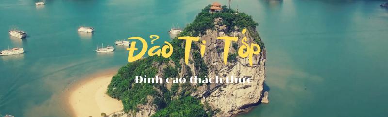 Poster ảnh toàn cảnh trên cao đảo Ti Tốp