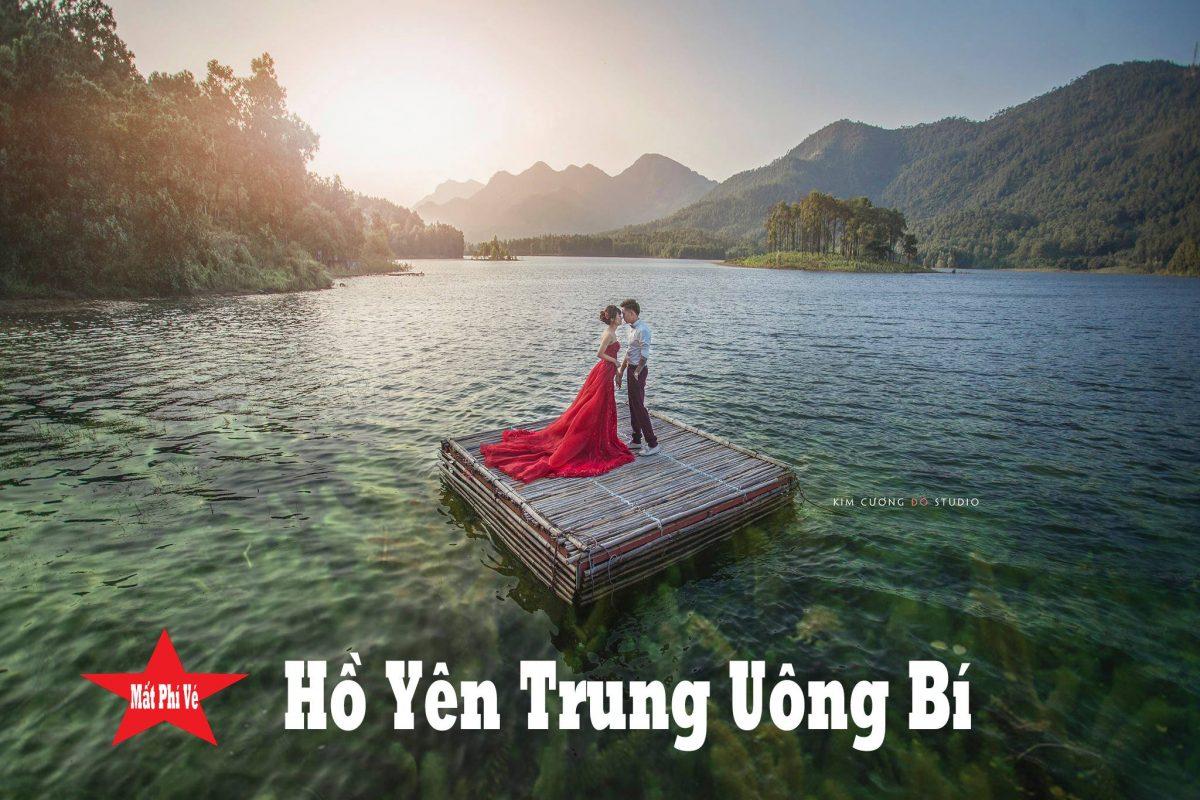 Cặp đôi chụp ảnh cưới tại Hồ Yên Trung, Uông Bí