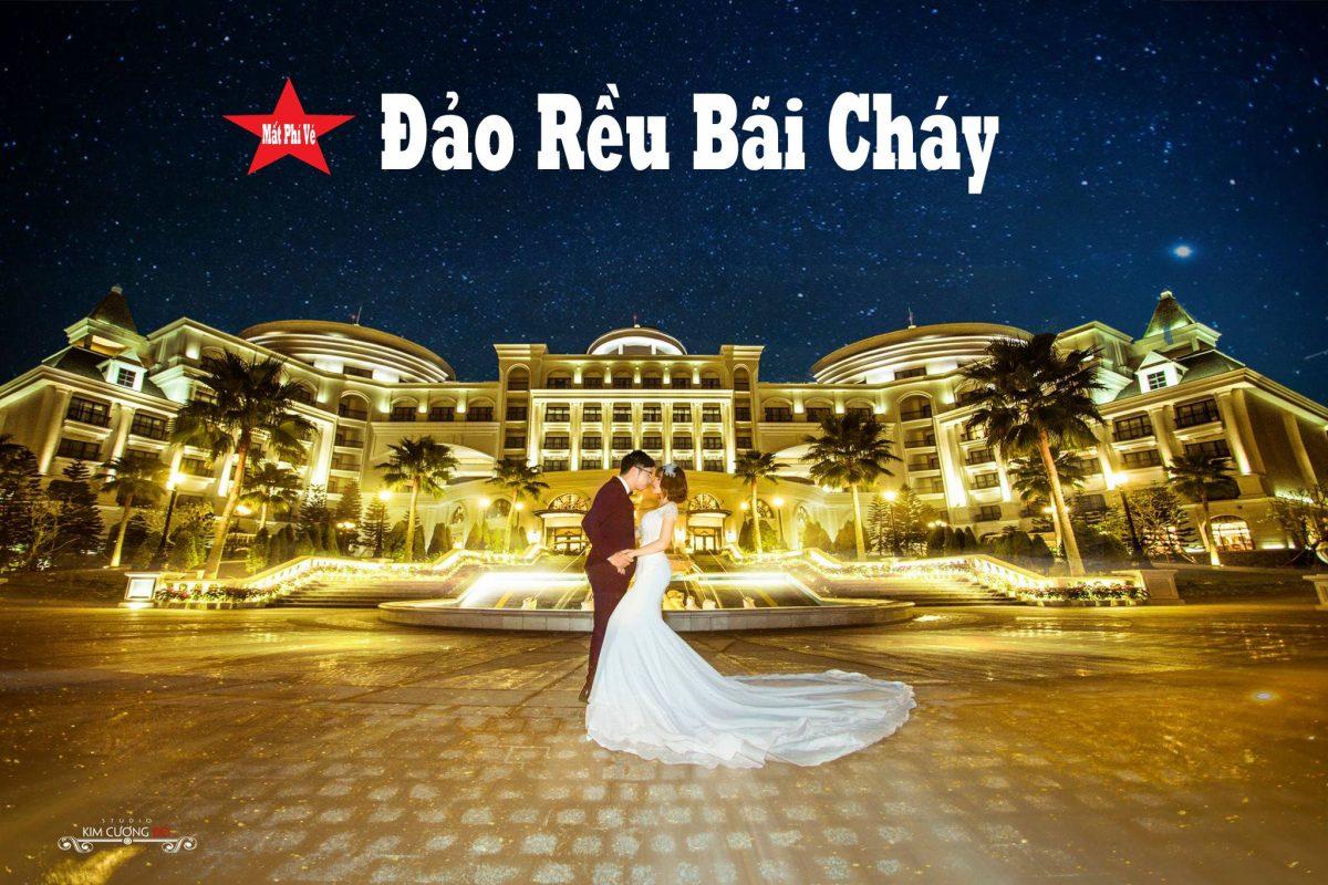 Cặp đôi chụp ảnh cưới tại Đảo Rều Vinpearl Hạ Long