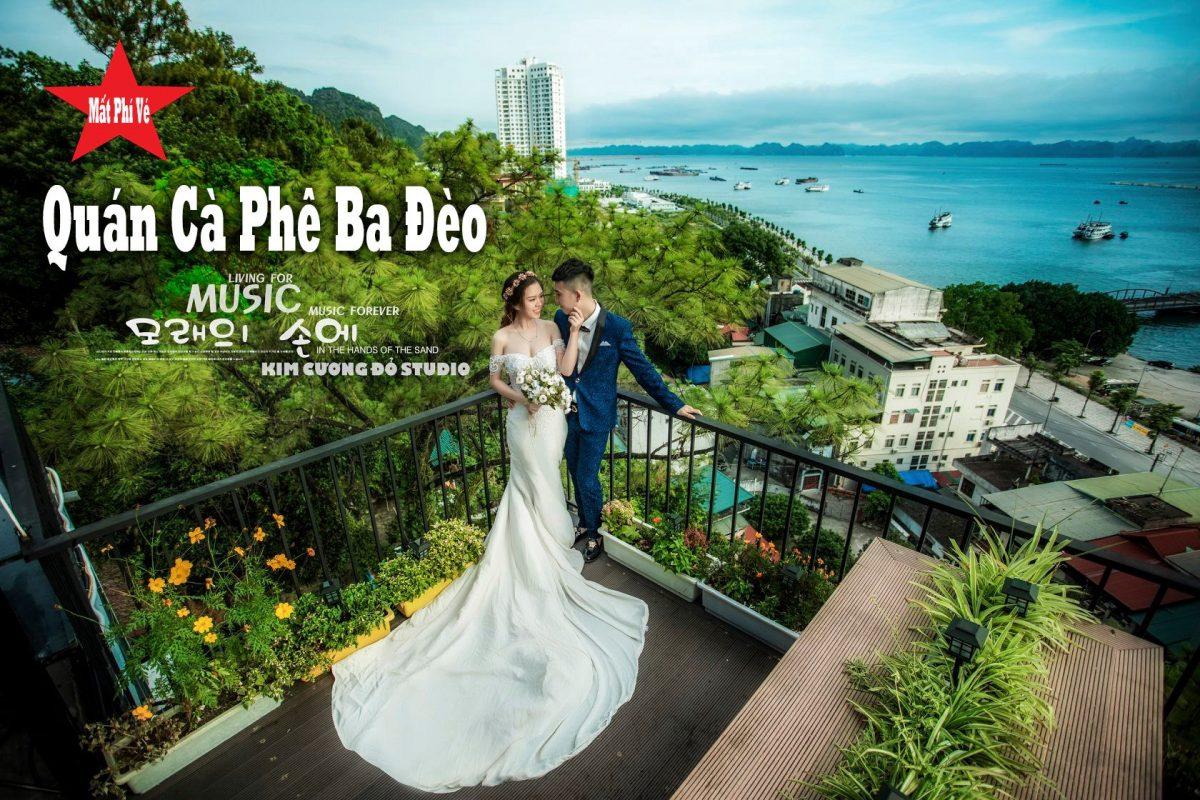 Cặp đôi chụp ảnh cưới tại quán cafe Hải Đăng, Ba Đèo, Hạ Long