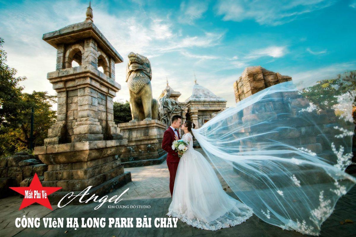 Cặp đôi chụp ảnh cưới tại Công viên Rồng, Hạ long Park, Sun World Hạ Long