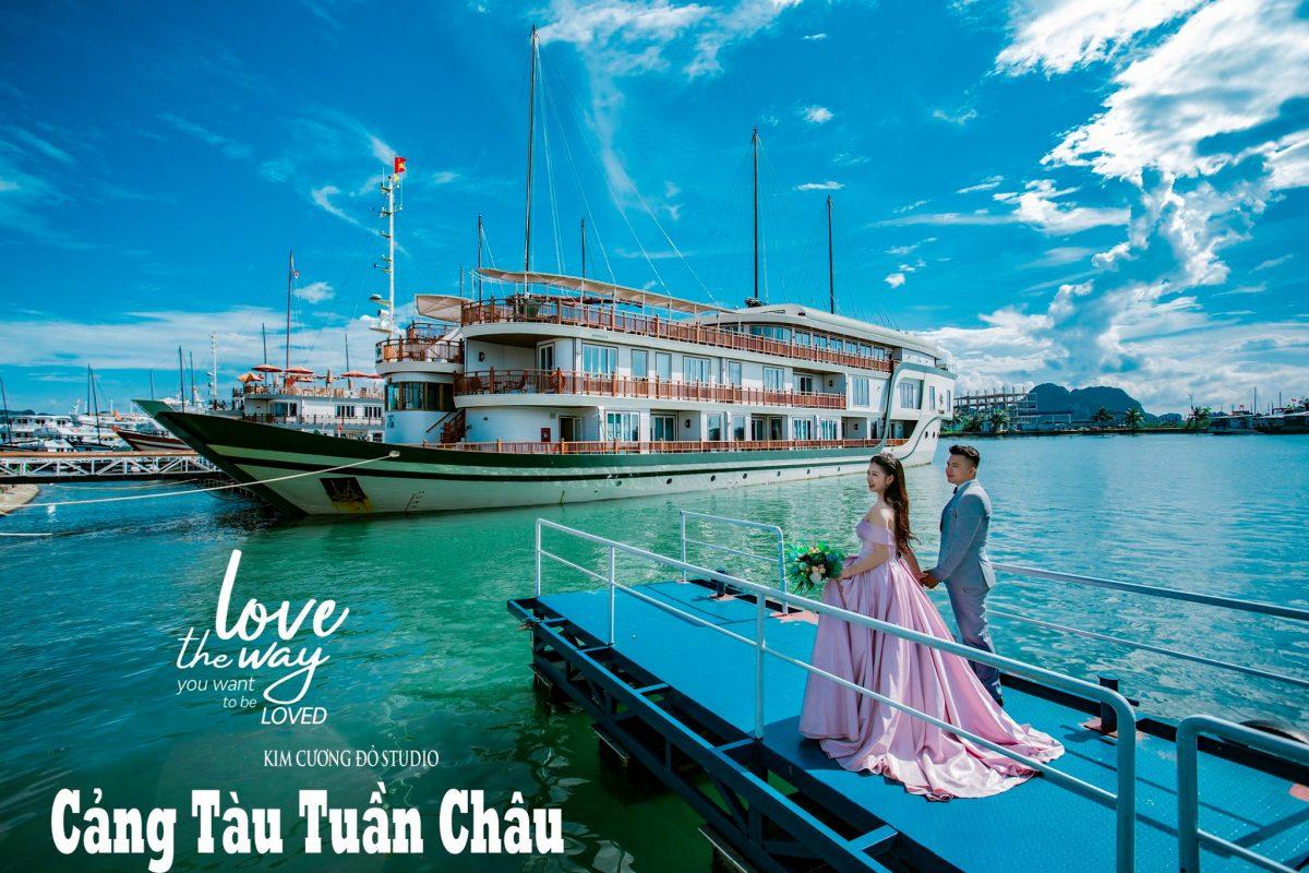 Cặp đôi chụp ảnh cưới tại Cảng tàu khách Tuần Châu