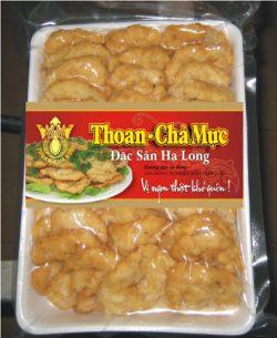 Chả mực Thoan được đóng gói với trọng lượng 1kg