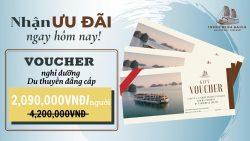 Poster quảng bá chương trình khuyến mãi của du thuyền Indochine