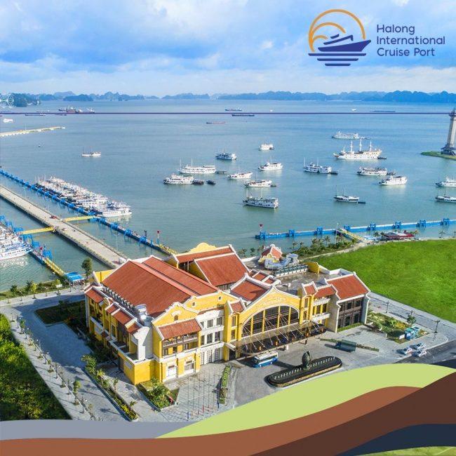 Toàn cảnh cảng tàu khách Hạ Long nhìn từ trên cao