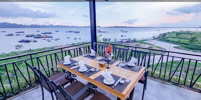 Vị trí view biển đẹp cực kỳ tại nhà hàng phương nam hạ long