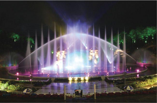 Sân khấu biểu diễn nhạc nước Tuần Châu Park